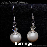 Aristocrat Tiaras - handmade earrings