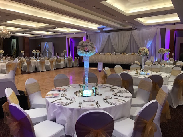 Royal Chace Hotel Venue decoration and styling