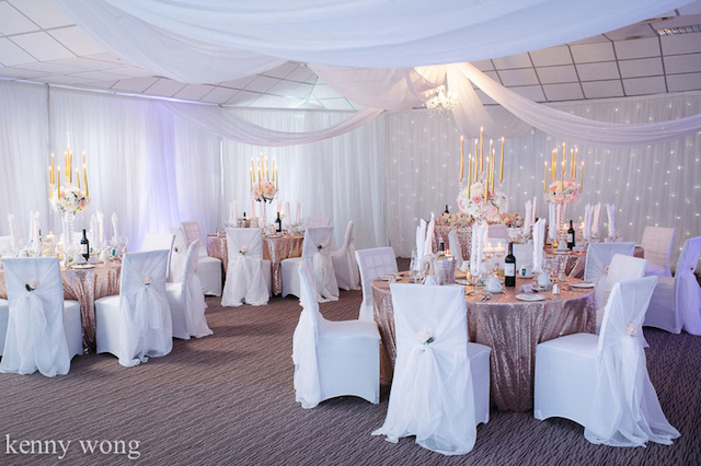 Wedding venue styling Beau Blush Events