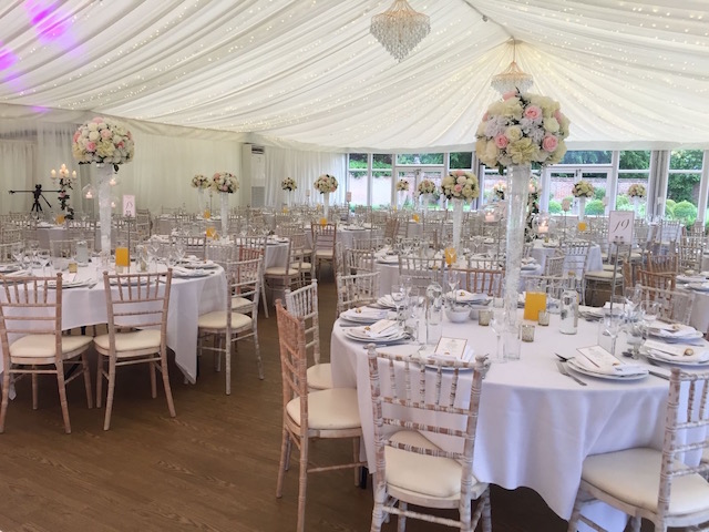 Quendon Hall Marquee decoration
