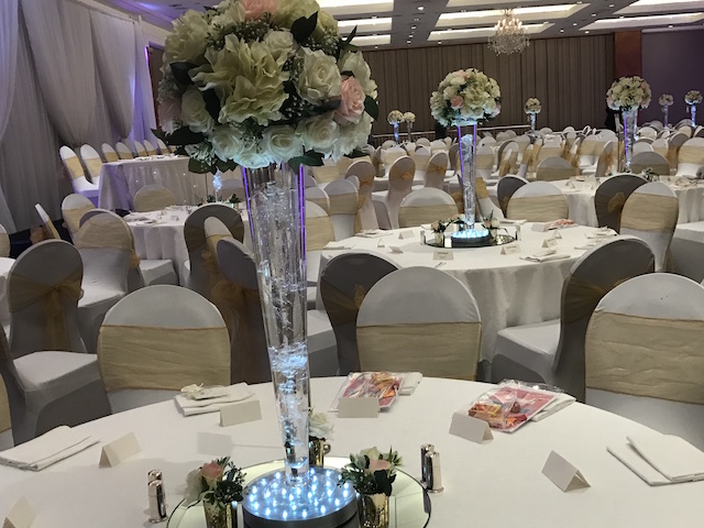 Royal Garden Hotel centrepieces