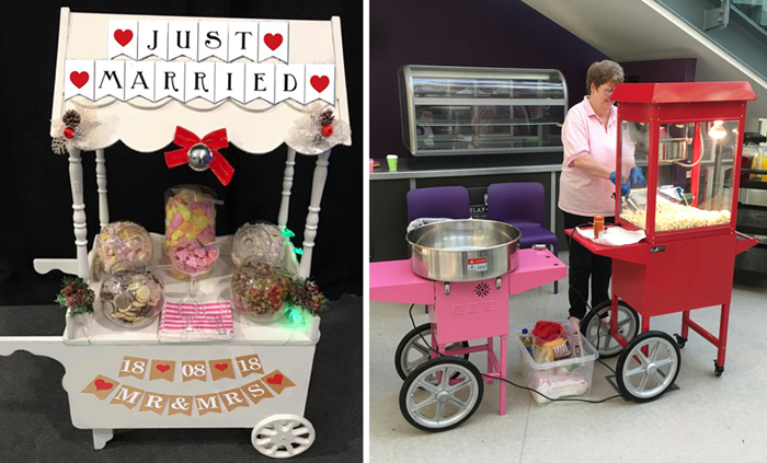 Candy Cart, Candyfloss Machine and Popcorn Maker