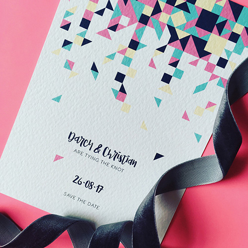 Confetti Wedding Invitation Collection