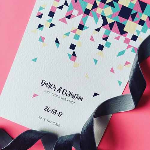 Confetti Wedding Invitation Collection
