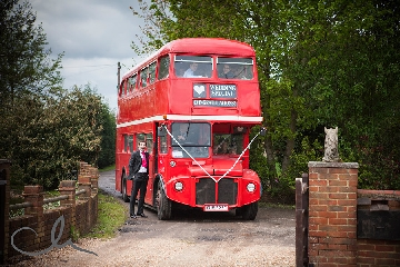 Groom with Routemaster Wedding Bus