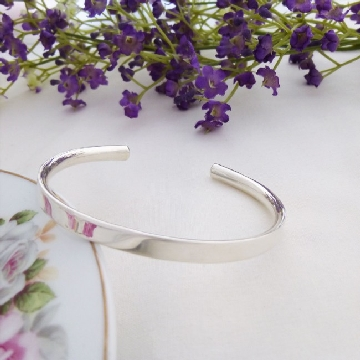 solid silver womens bangle