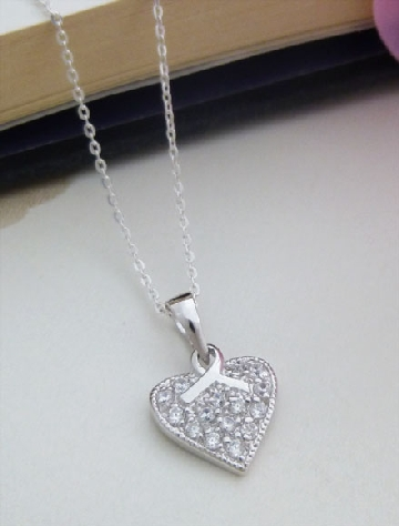 Sterling Silver bow pendant necklace from Guilty Necklaces