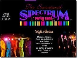 http://www.spectrumpartyband.biz website
