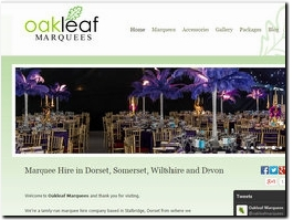 http://www.oakleafmarquees.co.uk website