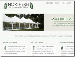 http://www.northernmarqueehire.co.uk website