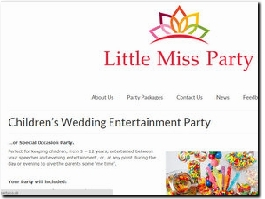 http://www.littlemissparty.co.uk/childrens-wedding-entertainment-party/ website