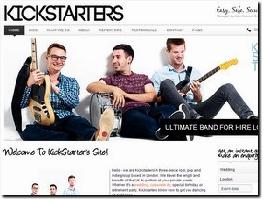 http://www.kickstartersband.co.uk website