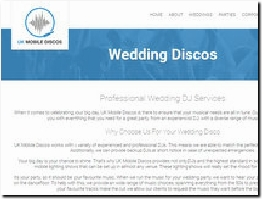 https://www.ukmobilediscos.co.uk/weddings website