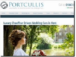 http://portcullisexecutivetravel.co.uk/wedding-cars/ website