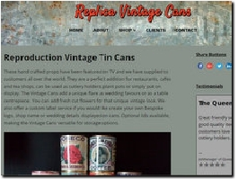http://www.replicavintagecans.co.uk website