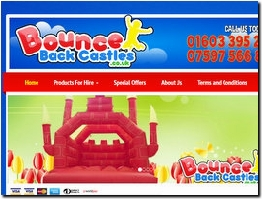 http://www.bouncebackcastles.co.uk website