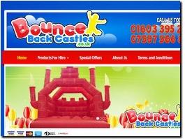 http://www.bouncebackcastles.co.uk website