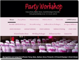 http://www.partyworkshop.co.uk website