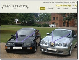 https://www.carolsluxuryweddingcars.co.uk/home website