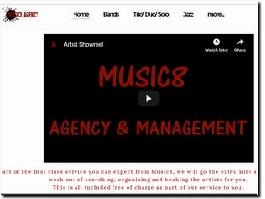 http://www.music8agency.co.uk website