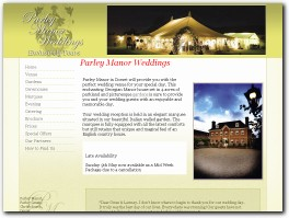 http://www.parleymanorweddings.co.uk/ website