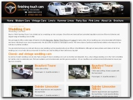 http://www.finishingtouchcars.co.uk/wedding-cars/ website