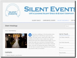 http://www.silentevents.co.uk website