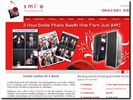 http://www.smilephotobooths.co.uk website