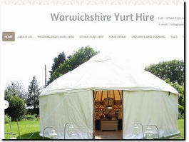 http://www.warwickshireyurthire.co.uk website