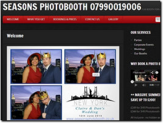 http://www.seasonsphotobooth.co.uk website