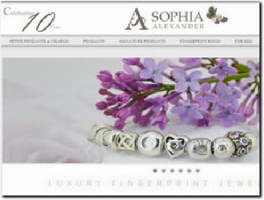 http://www.sophia-alexander.com website