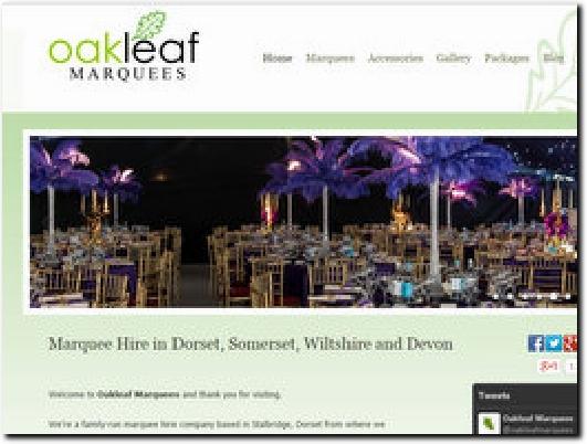 http://www.oakleafmarquees.co.uk website