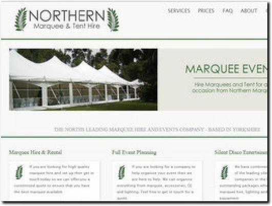 http://www.northernmarqueehire.co.uk website