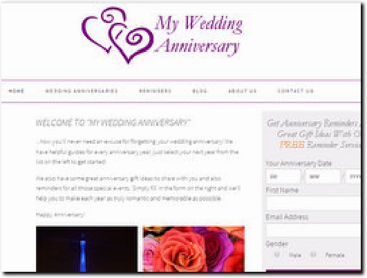 http://www.myweddinganniversary.com website
