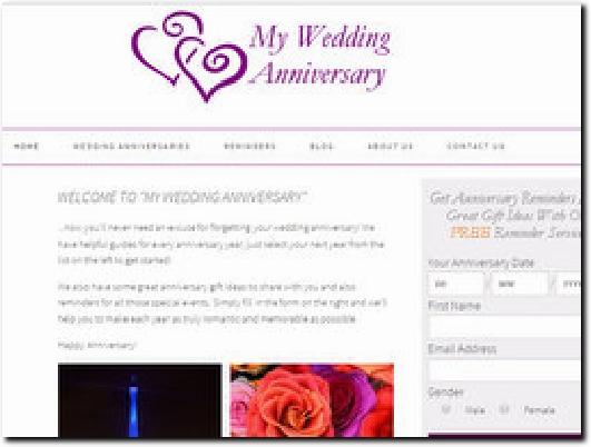 http://www.myweddinganniversary.com website