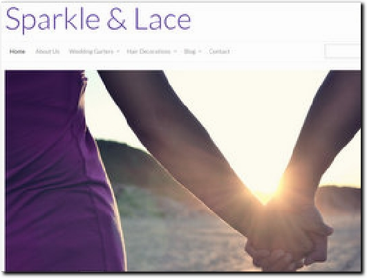 http://sparkleandlace.co.uk website