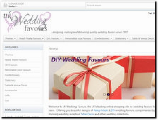 http://www.ukweddingfavours.co.uk website