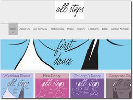 http://www.allstepsfirstdance.co.uk website