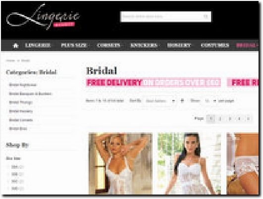 http://www.lingerieavenue.co.uk/bridal.html website