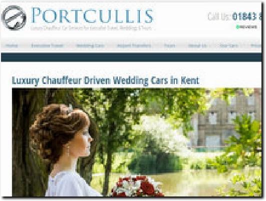 http://portcullisexecutivetravel.co.uk/wedding-cars/ website