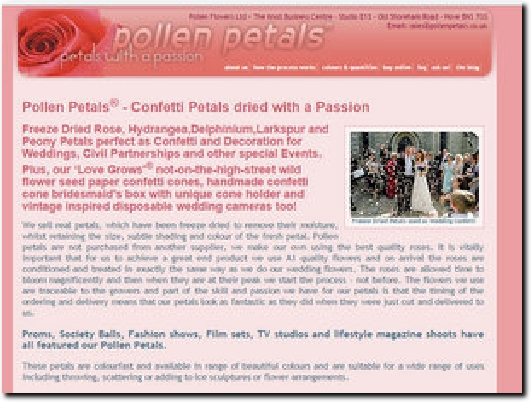 http://www.pollenpetals.co.uk website
