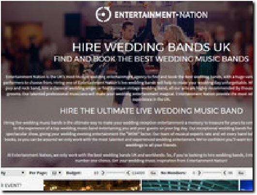 https://www.entertainment-nation.co.uk/wedding-bands website