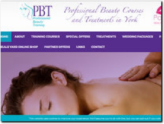 http://www.professionalbeautytraining.co.uk website