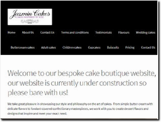 http://jazmincakes.co.uk website