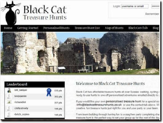 http://www.blackcattreasurehunts.co.uk website