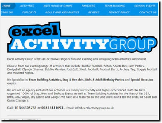 http://www.excelactivitygroup.co.uk website
