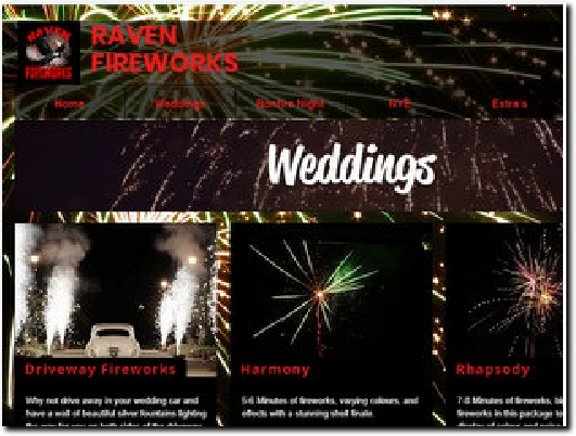 http://www.theweddingfireworks.co.uk website