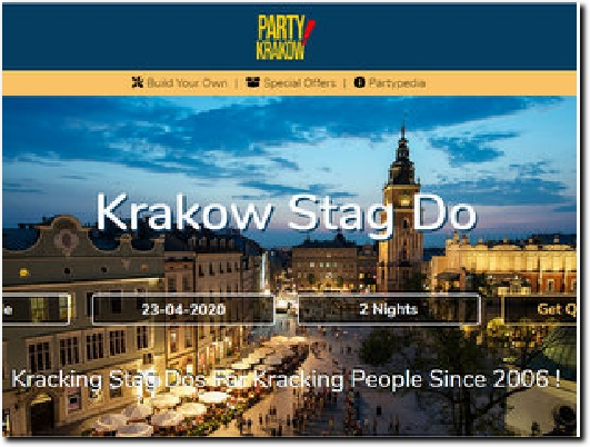 https://partykrakow.co.uk/ website