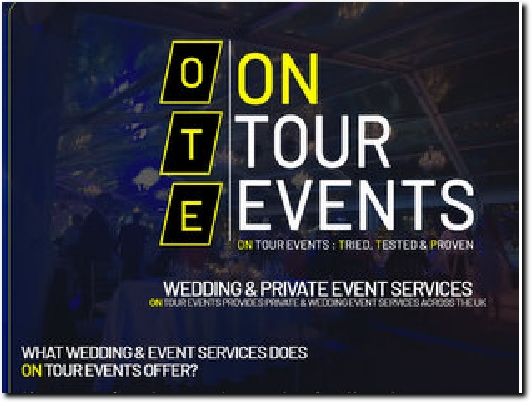 https://www.ontourevents.co.uk/wedding-events-services website