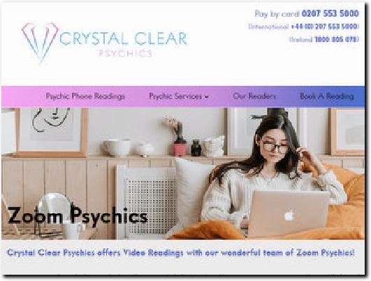 https://www.crystalclearpsychics.co.uk/ website